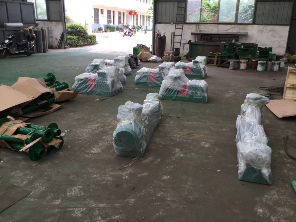 Already packed screw pump.
